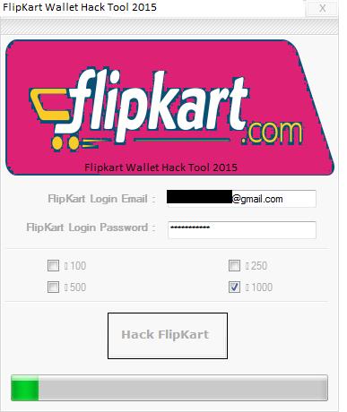 Flipkart Wallet Hack tool 2015