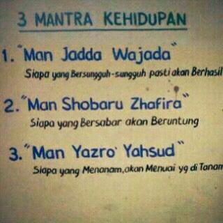 3 mantra dalam kehidupan