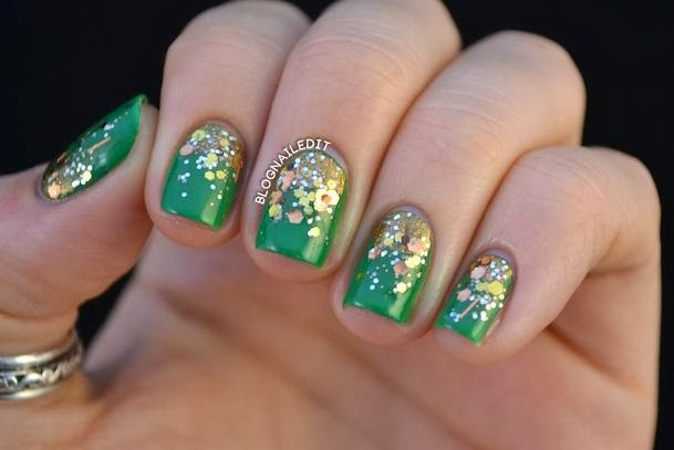 Green Base With Golden Sparke