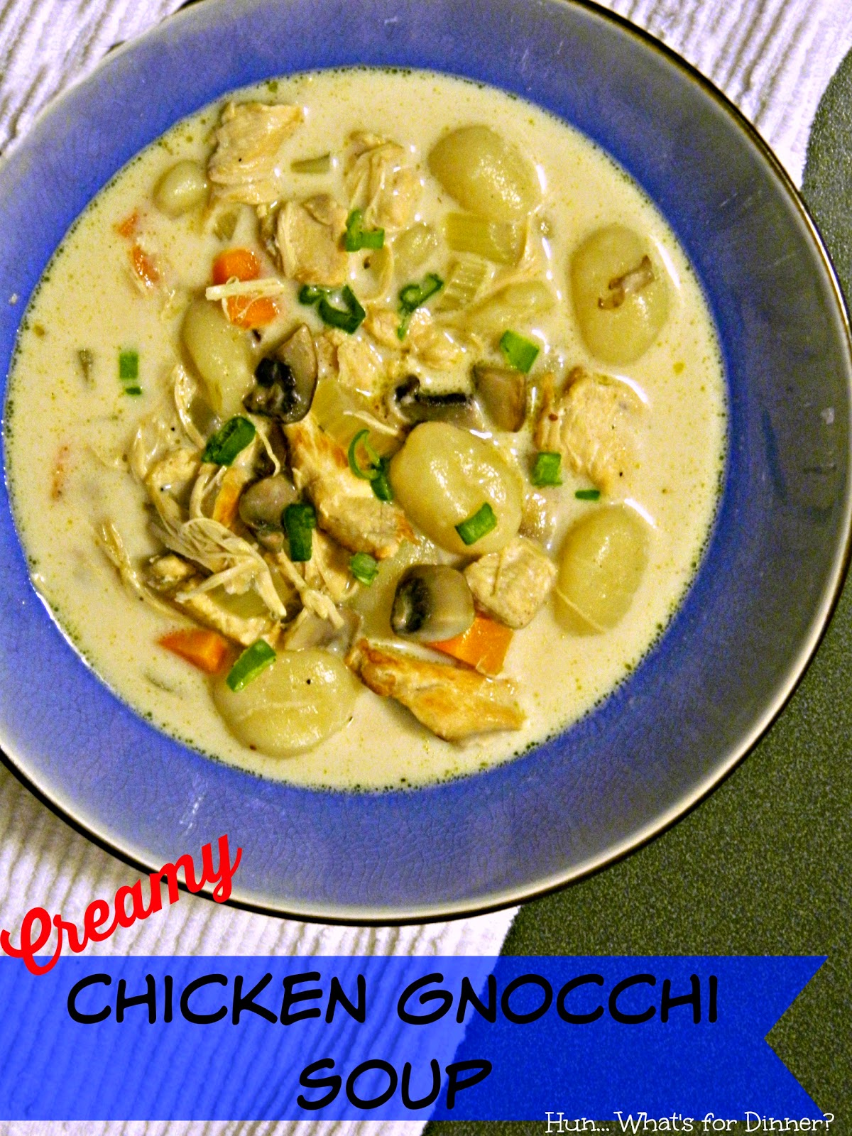 Creamy Chicken Gnocchi Soup- National Soup Month