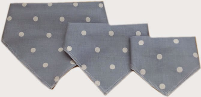 Dog Bandanas, cotton, stylish, polka dot