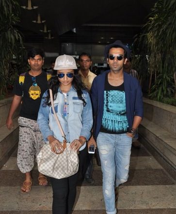 Rajkummar Rao & Patralekha snapped at the airport