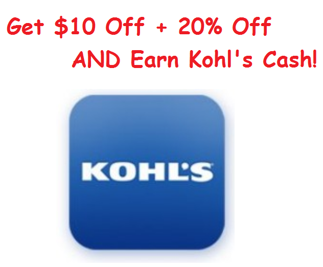 Get $10 Off a $25 Purchase at Kohls + 20% Off + Kohl's Cash!