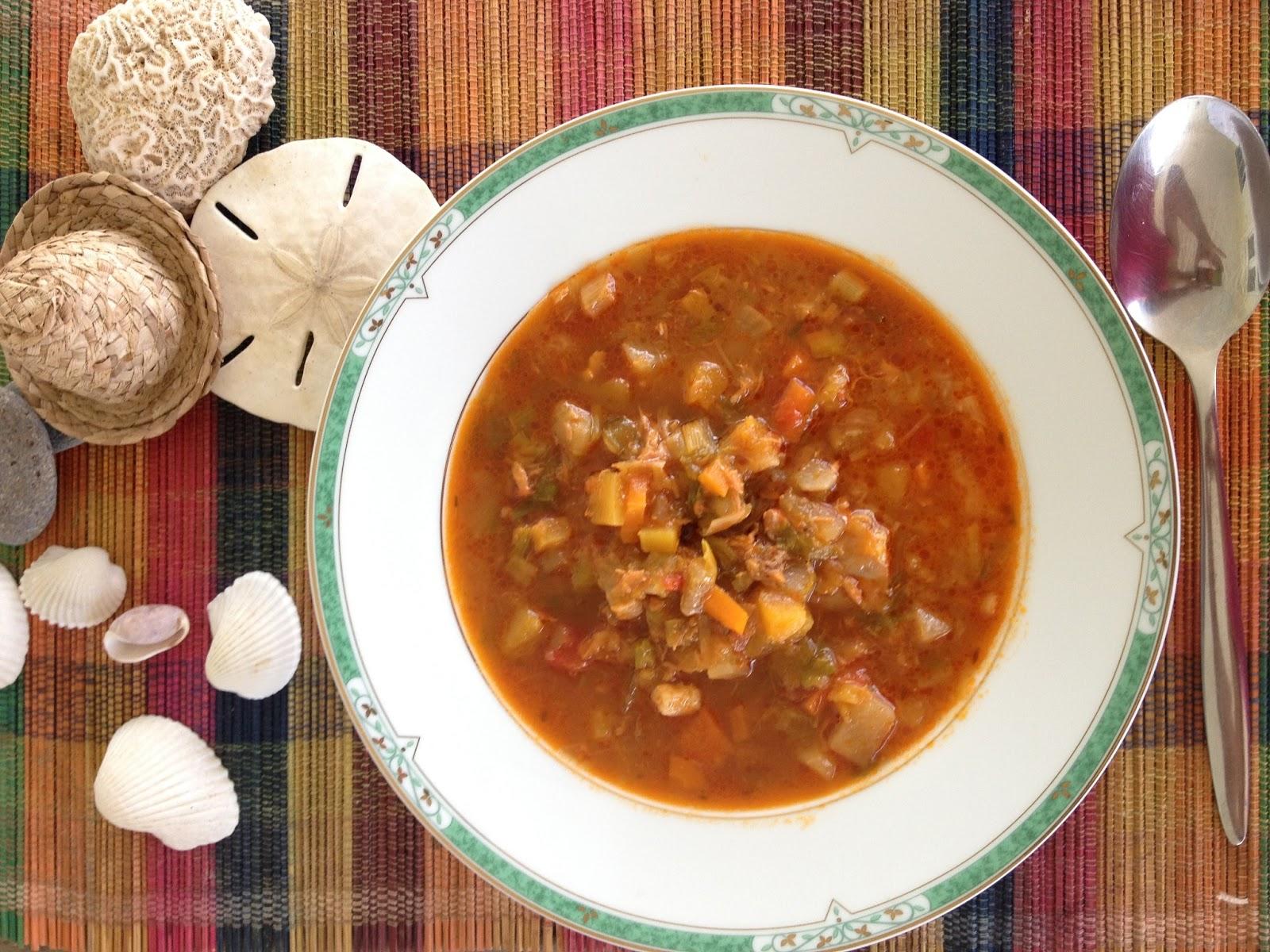 La soupe de poisson ou la plage la maison - Cuisine creole antillaise ...