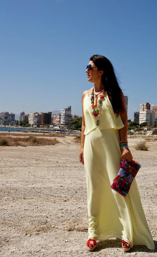 Vestido vainilla suave Patty Moda Alicante