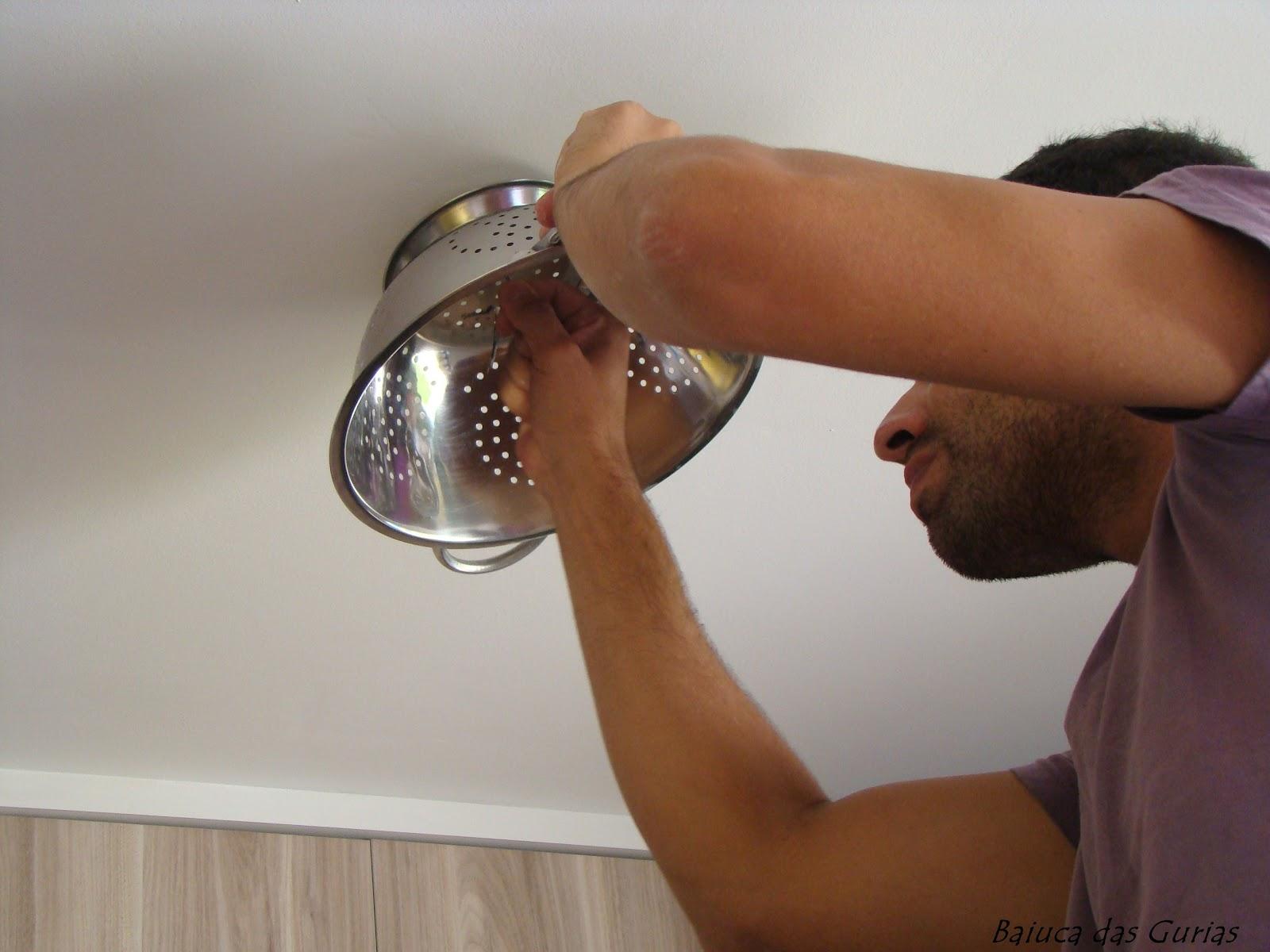 de Macarrão Idéia de Luminári Faça Você Mesmo Casa e Reforma #6E422B 1600x1200 Armario Banheiro Faça Voce Mesmo