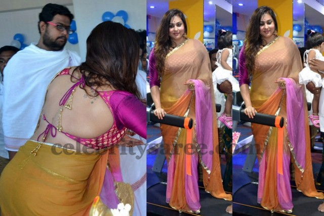 Namitha in Backless Blouse