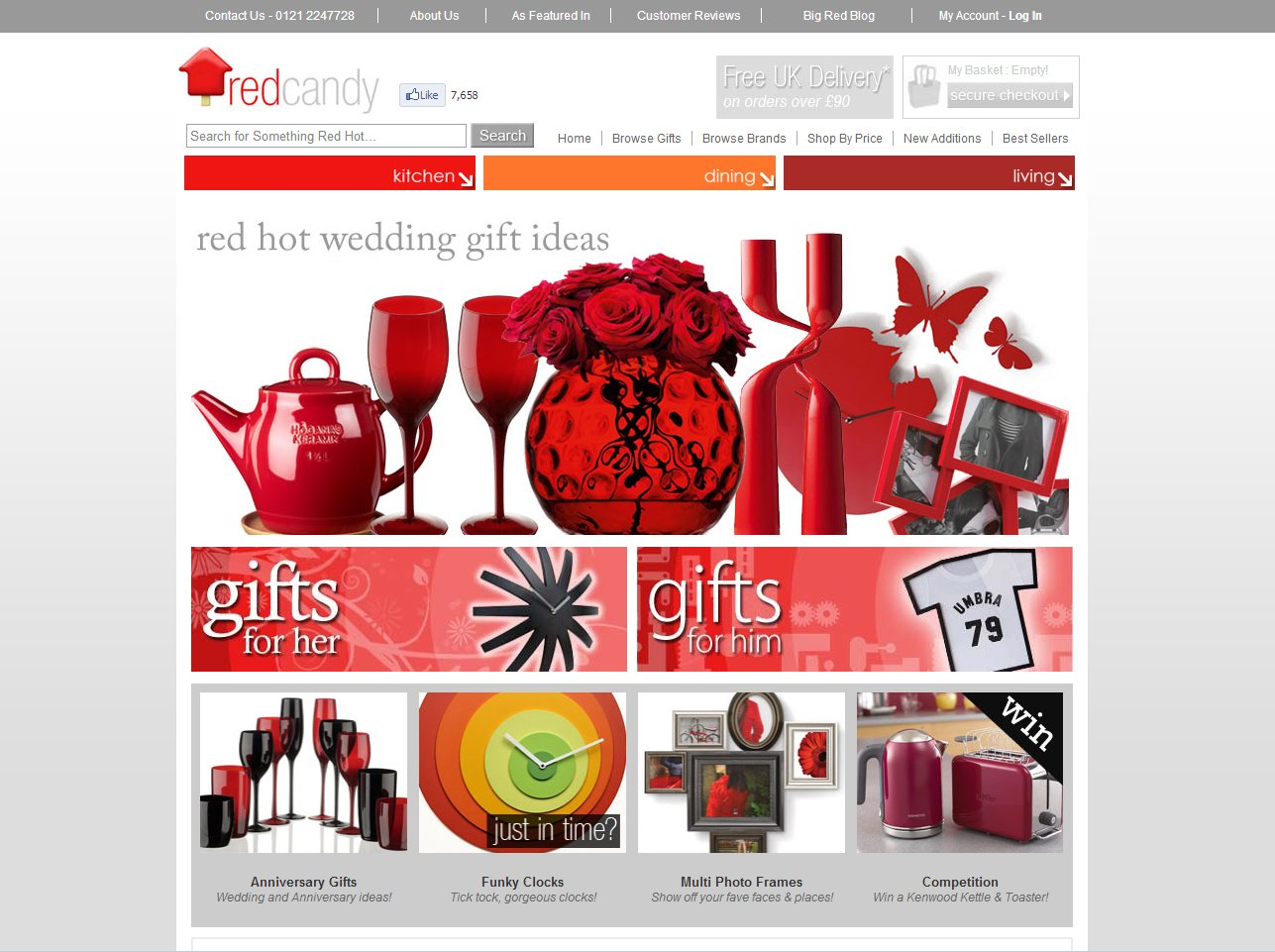 Modern and red for homeware red candy this is life for Gifts and homewares