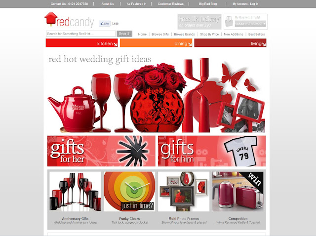 Red Candy Online Gift Shop, modern and designer gifts, red homeware
