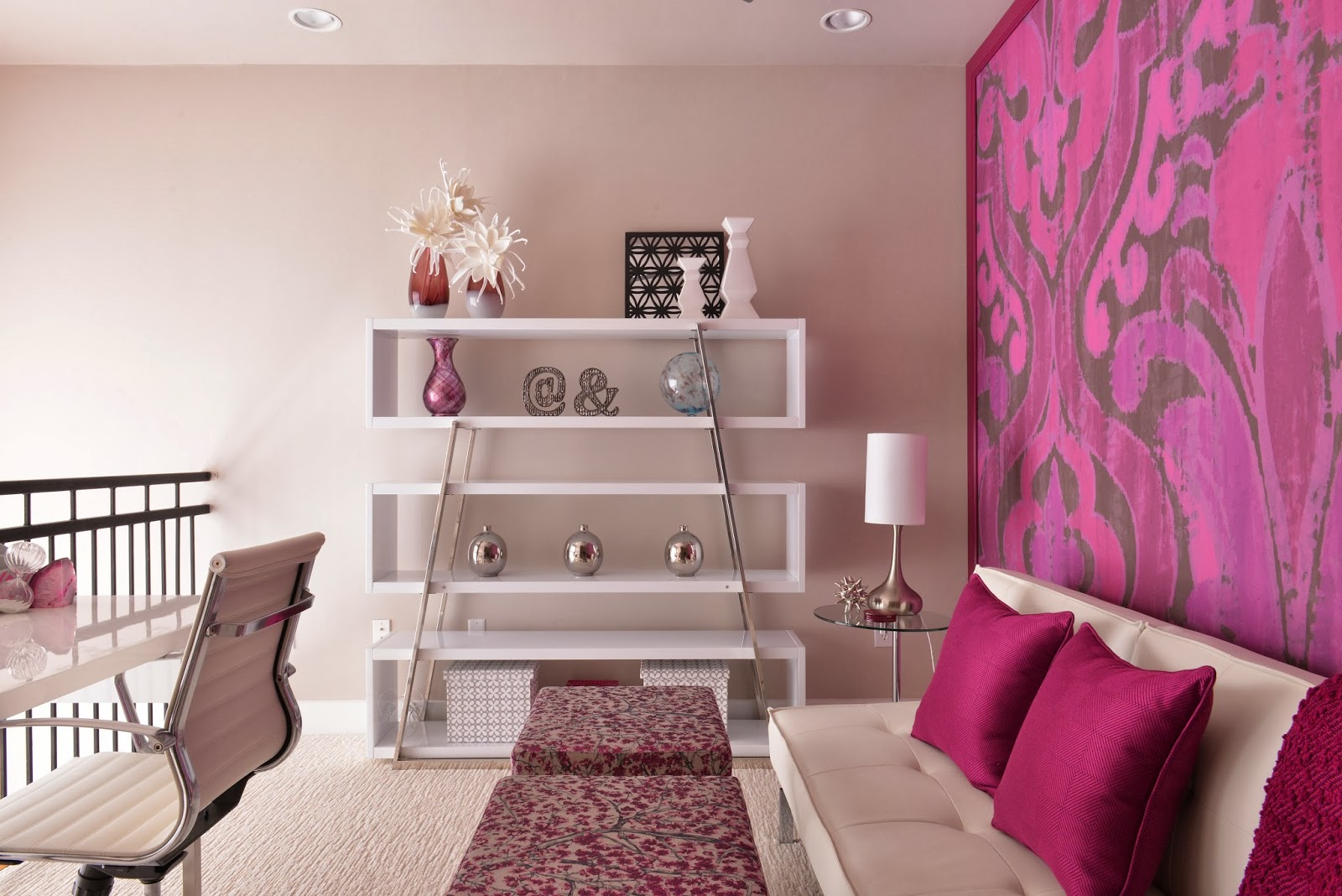 Tuesday February 18 2014  Classic with a Twist February 2014. Magenta Bedroom