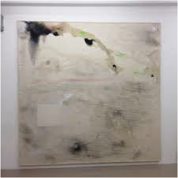 Lucy Dodd Art Basel Painting