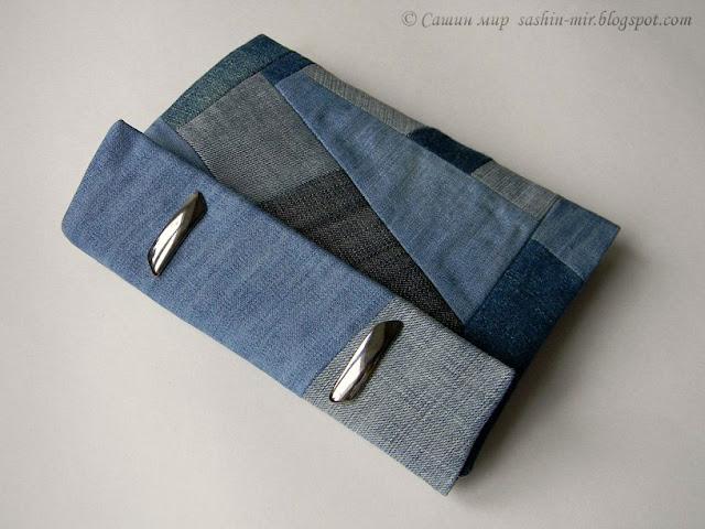 Пенал из джинсов своими руками