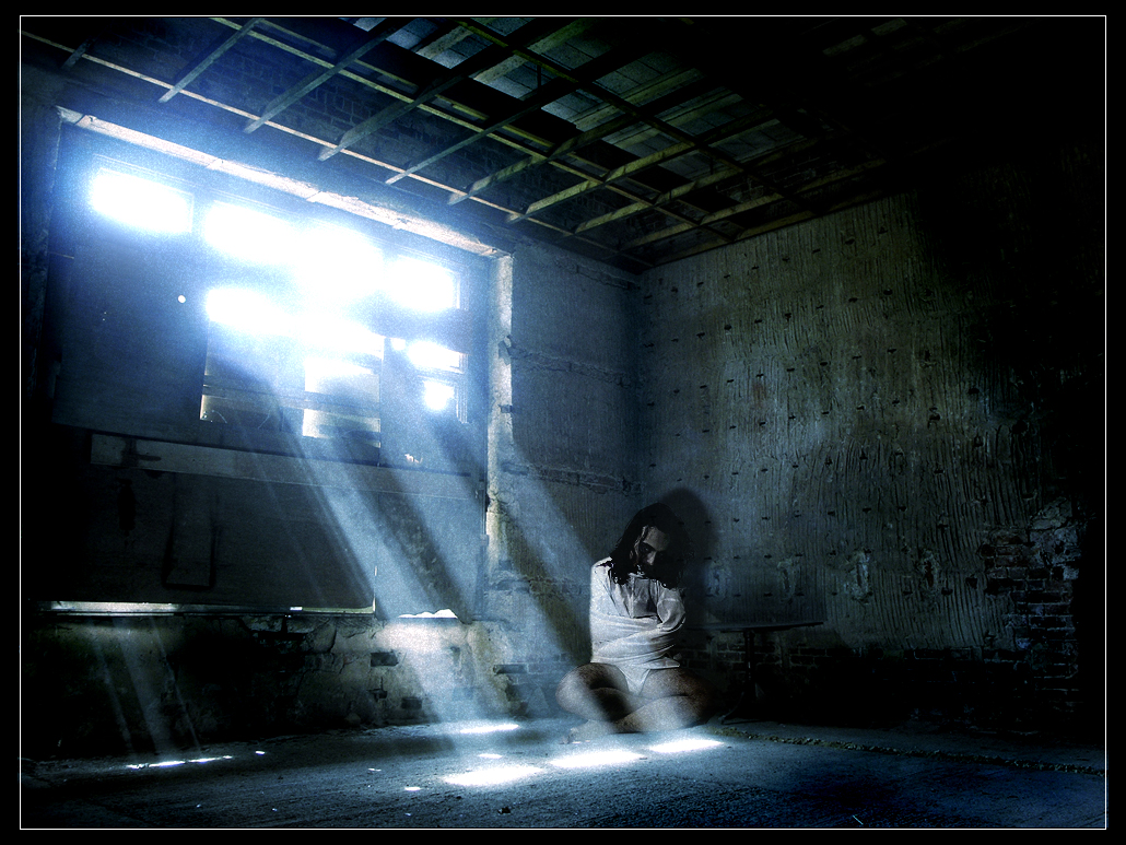 Dark room with light through door - A Murky Light Filtered In Through A Row Of High Cobwebbed Windows Revealing Cracked White Tiles From Floor To Ceiling Light Pinterest Window Reveal