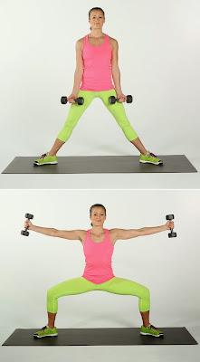 Sumo Squat Side Arm Rises to Lose Inner Thigh Fat