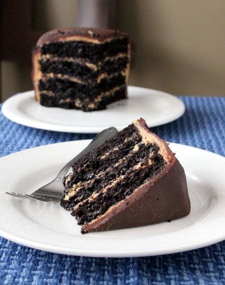 Dad S Favorite Chocolate Peanut Butter Layered Cake
