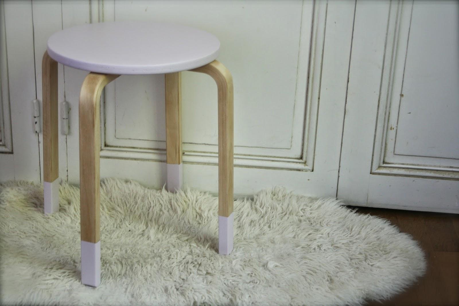 Noix De Cocoon Relooking De Tabouret Ikea 1