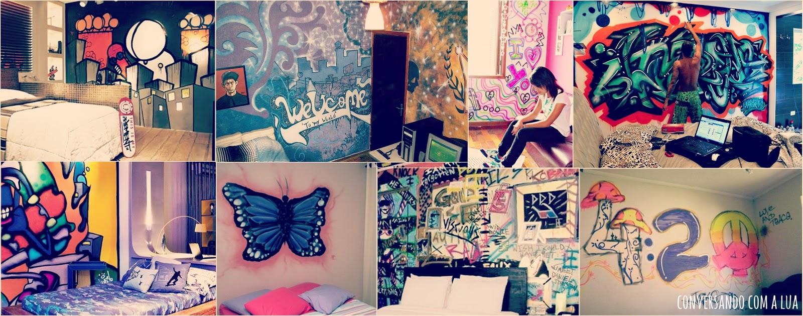 Quarto Pichado Tumblr Redival Com ~ Papel De Parede Grafite Para Quarto