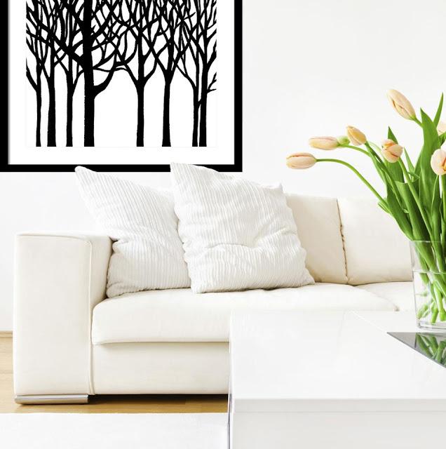 http://irina-sztukowski.artistwebsites.com/products/black-n-white-forest-irina-sztukowski-framed-print.html