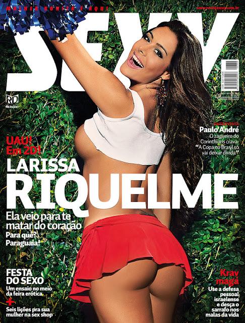 Confira as fotos da Paraguaia, musa da Copa do Mundo da Africa do Sul, Larissa Riquelme, capa da Sexy de maio de 2012!