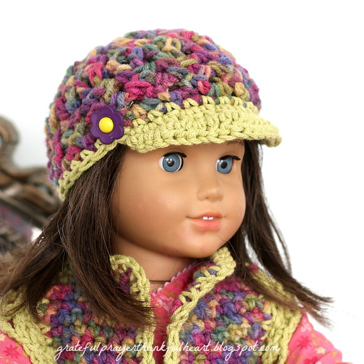 Crochet Hat Pattern American Girl Doll : With a Grateful Prayer and a Thankful Heart: American Girl ...