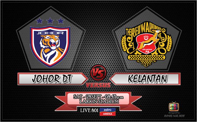 Keputusan JDT vs Kelantan 28 September 2013