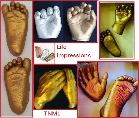 baby foot hand cast