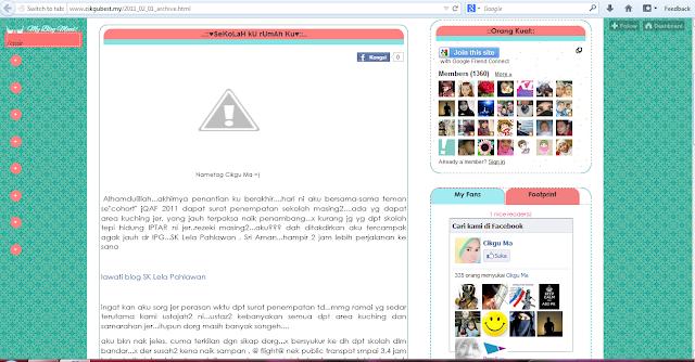 Laman web guru j-Qaf dari Sarawak