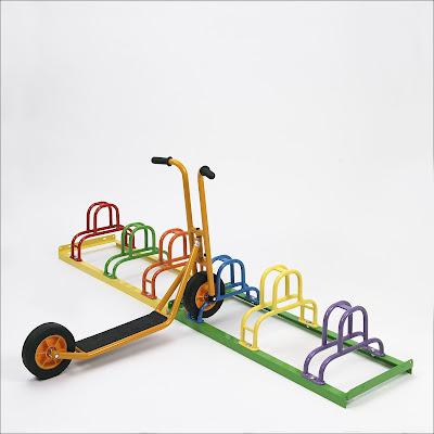 Fahrradständer KIDDY RACK  als Kinderfahrradständer & Rollerparker