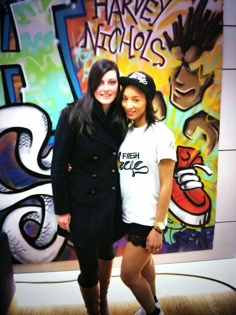 Elisha and me at the Fresh Laces event in Manchester