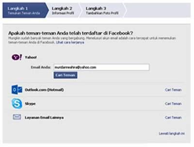 Trik Mudah Membuat Akun Facebook