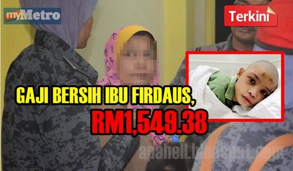 Gaji Bersih Ibu Firdaus, RM1,549.38