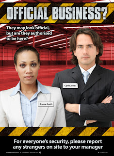 Workplace security poster