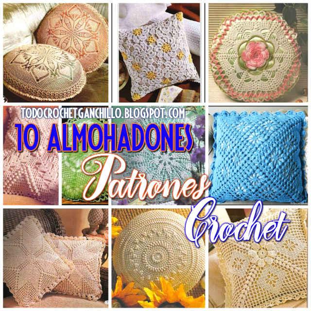 10 patrones de almohadones crochet