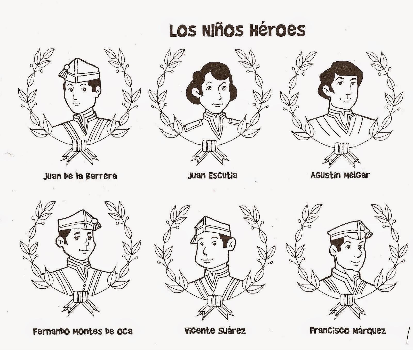 Jardin Escolar: Niños Héroes - Dibujos Para Colorear