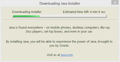 Downloading Java Installer