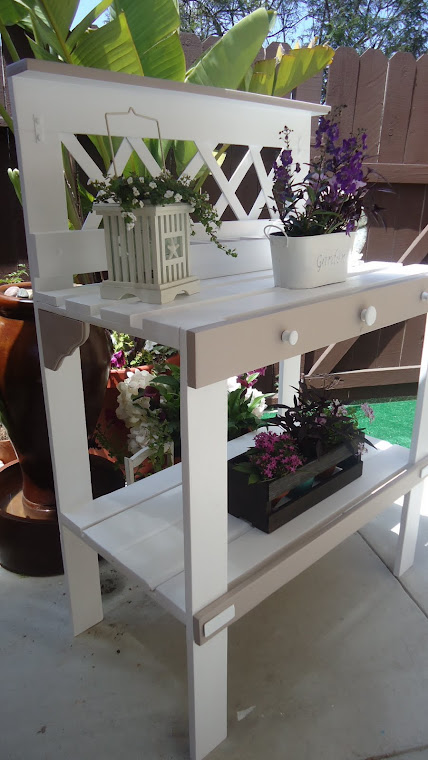 Taupe and White Table - SOLD