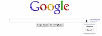 Imagem: Busca Google em Inglês por voz
