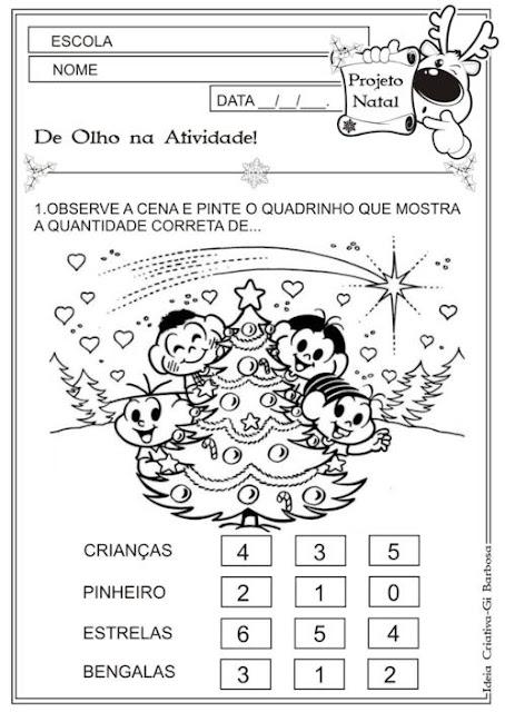 Atividade Educação Infantil Matemática Natal