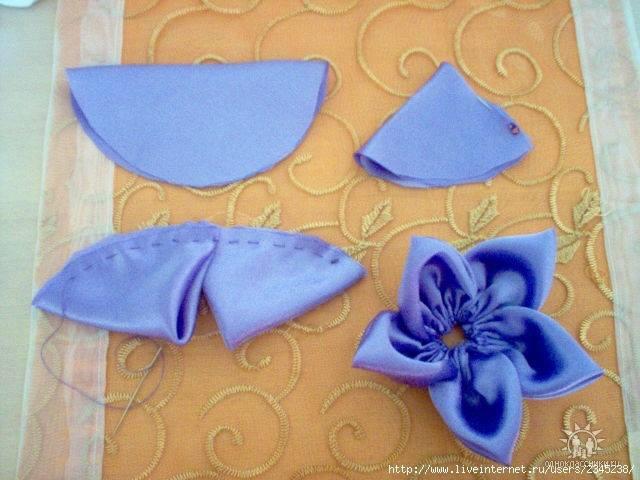 Как сшить цветок из ткани своими 962