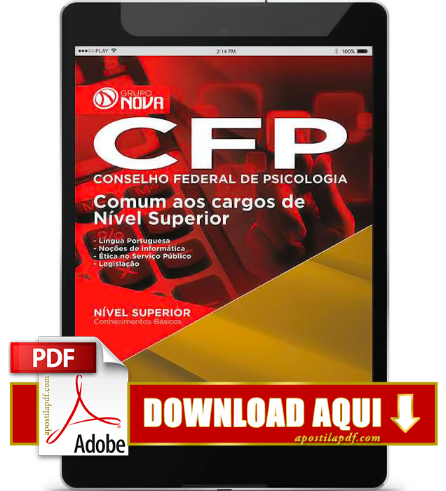 Apostila CFP DF 2015 PDF Download Nível Superior