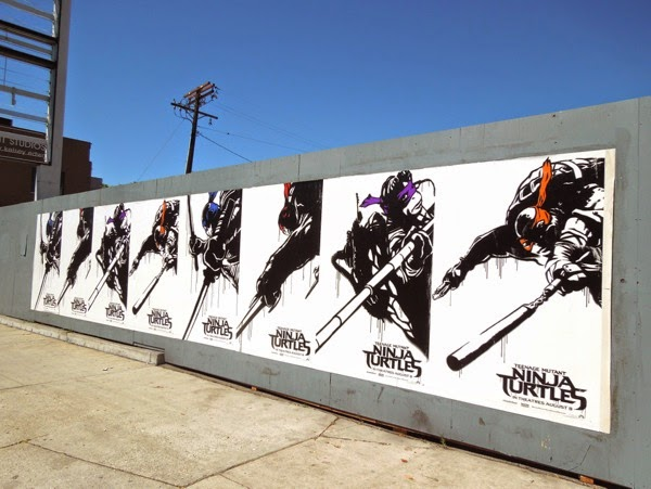 Teenage Mutant Ninja Turtles movie reboot posters