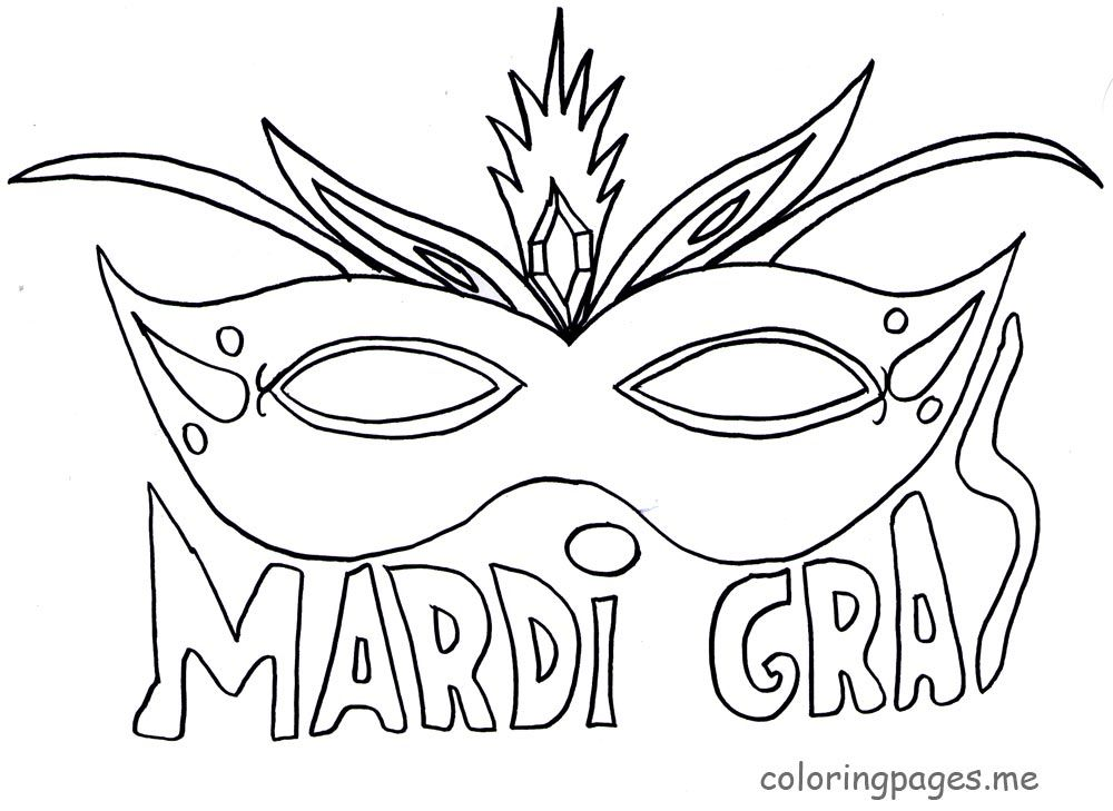 Beautiful Mardi Gras Mask Printable Coloring Pages ...