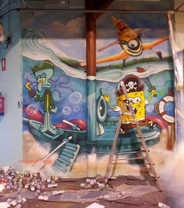 Graffitis aviones Dusty