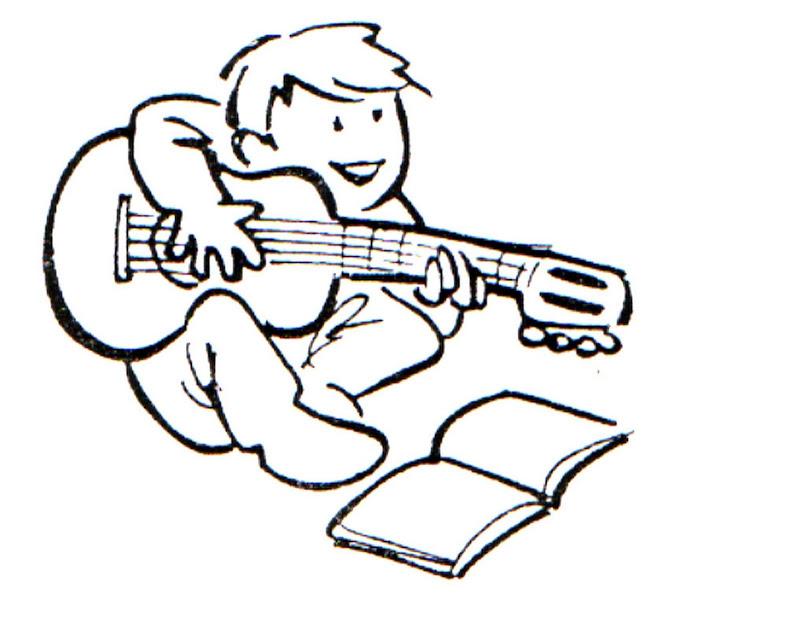 Aprendiendo guitarra para colorear