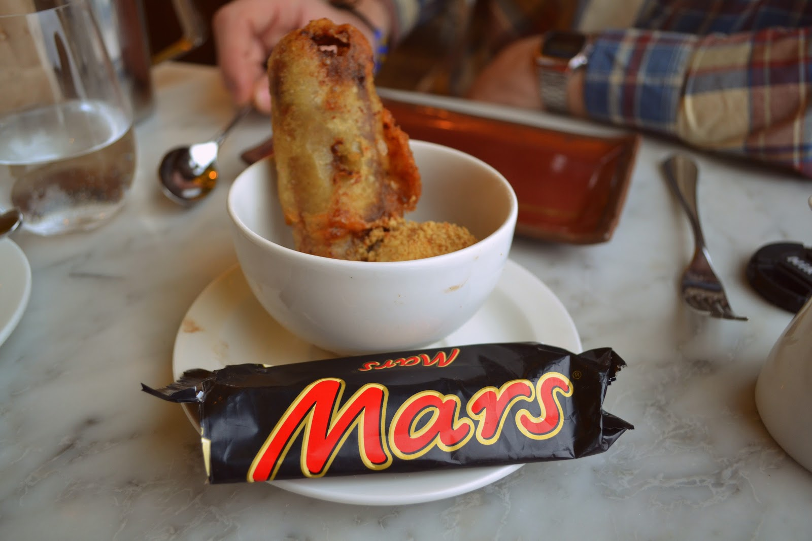 Duck & Waffle Battered Mars Bar