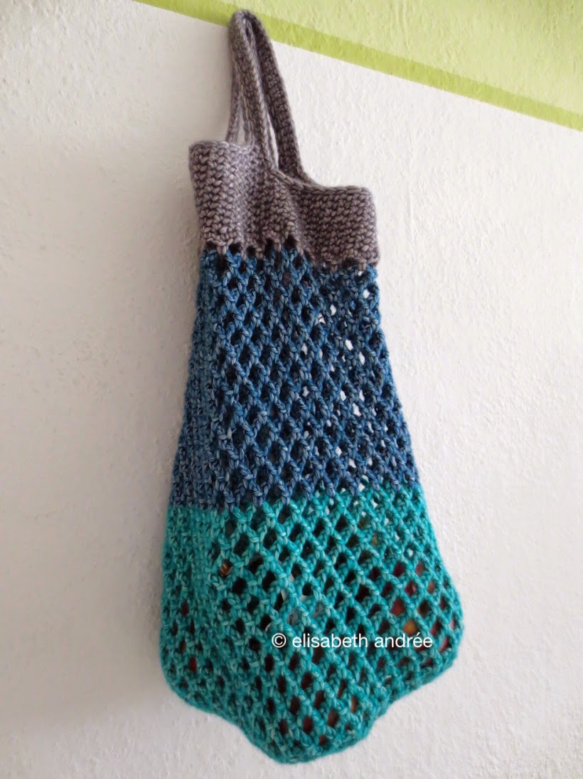 Easy Crochet Mesh Bag Pattern : Bees and Appletrees (BLOG)