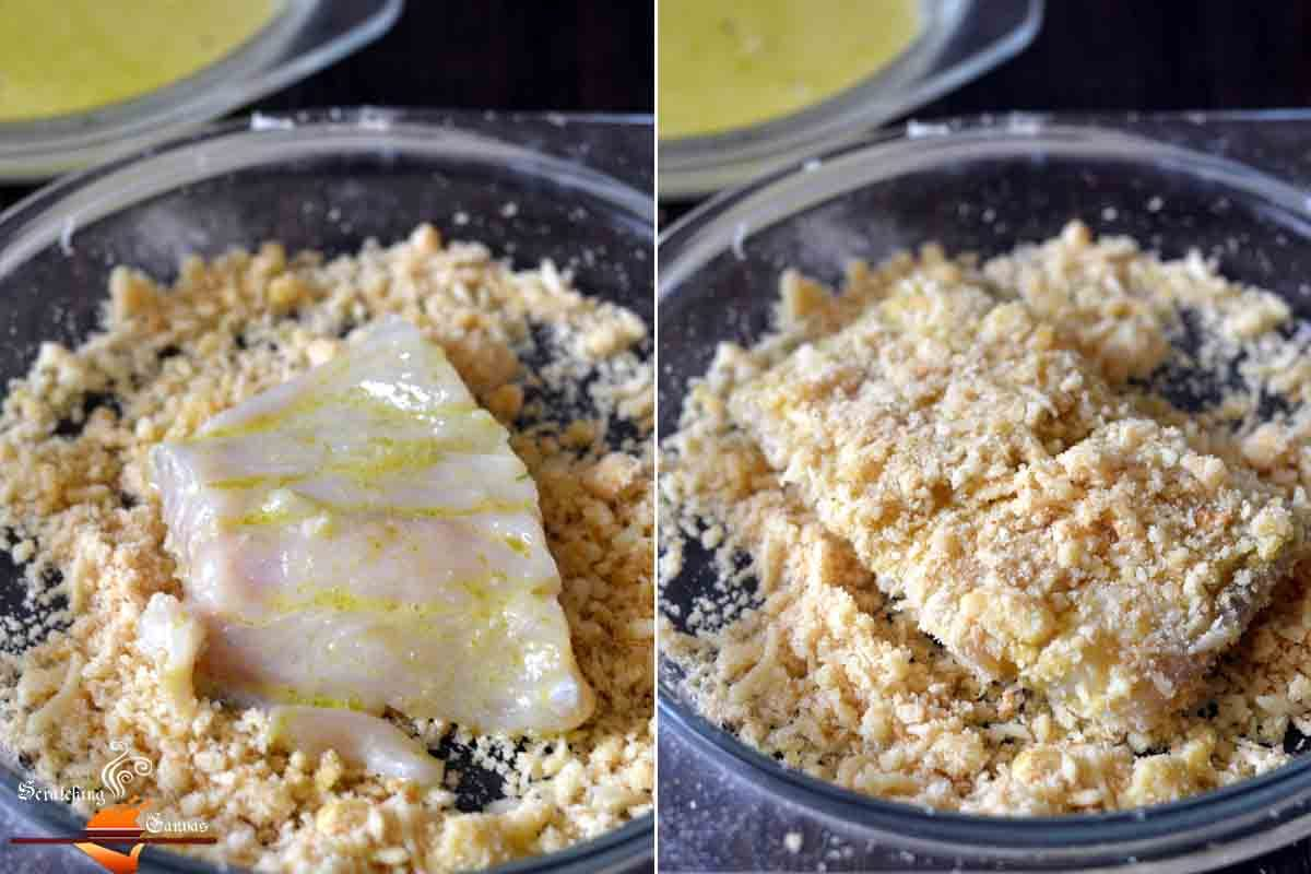 Baked parmesan fish with green pesto scratching canvas for Oven temperature for fish