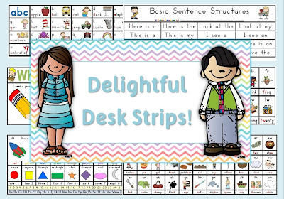 Delightful Desk Strips Clever Classroom blog