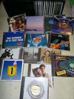 Highway One  (Alpine), IASCA (ljudtävling cd). Henzel och Thor (mkt bra), Yello, Techmaster PEB basskiva, Dire Straits, Scorpions ballader mm!!