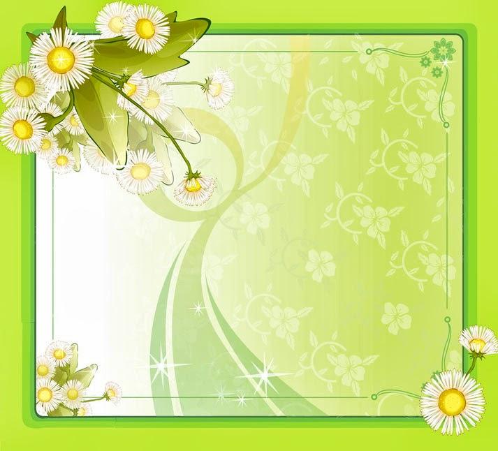 Flower Frame Design PPT Backgrounds